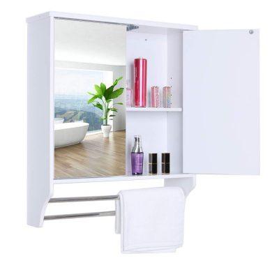 Wall Mounted Bathroom Cabinet with 2 Rimless Mirror Door