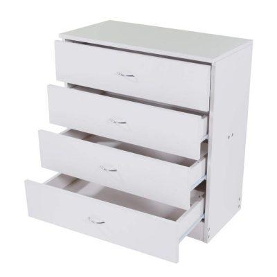 Drawer Chest, MDF Wood 4 Drawer Dresser