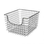 Spectrum Diversified Scoop Wire Basket, Vintage-Inspired Steel Storage