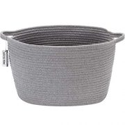 Sea Team Oval Cotton Rope Woven Storage Basket with Handles