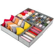 Drawer Organizer, 4 Set Foldable Underwear Drawer Organizer
