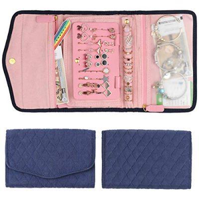 Keebofly Travel Jewelry Organizer Bag Foldable Jewelry Roll