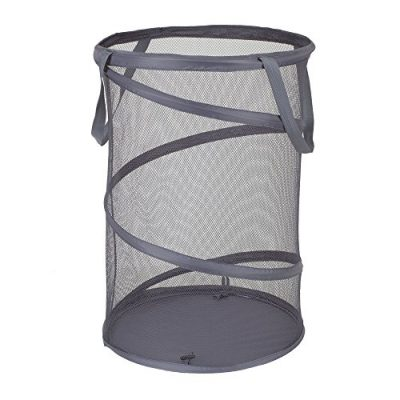 Charcoal Pop-Up Collapsible Mesh Laundry Hamper