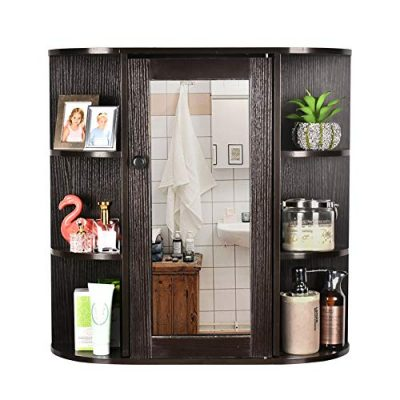 GIODIR Wall Mounted Cabinet Bathroom Wood Cupboard