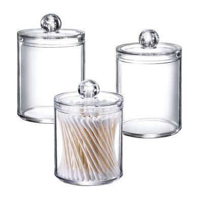 Makeup Cotton Organizer Bathroom Storage Canister Jar