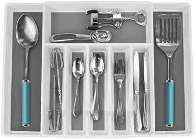 Expandable Cutlery Drawer Trays for Silverware, Serving Utensils