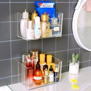 Corner Shelf Organizer with Hooks No Drilling
