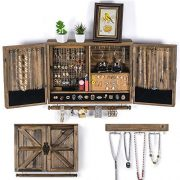 Wall Hanging Jewelry Organizer Rustic| Wall Mounted