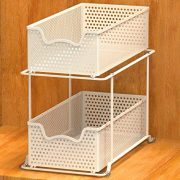 Simple Houseware 2 Tier Sliding Cabinet Basket Organizer Drawer