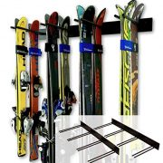 Steel Home and Garage Skis Mount 2 Pack Holds 16 Pairs