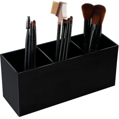 Black Makeup Brush Holder Organizer