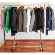 Tatkraft Drogo Heavy Duty Clothes Rack on Wheels