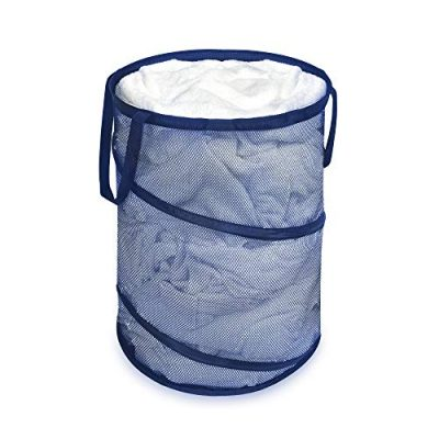 Laundry Hamper Bag Mesh Pop-Up Spiral