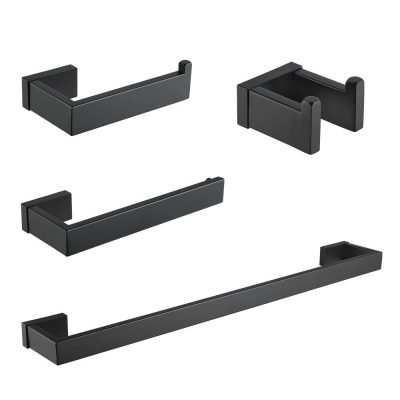Durafe Bathroom SUS 304 Towel Rack 4 Piece Bathroom Hardware Set