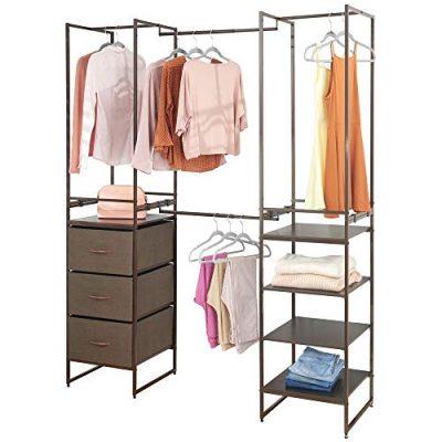 mDesign Modular Closet Organizer System, Storage