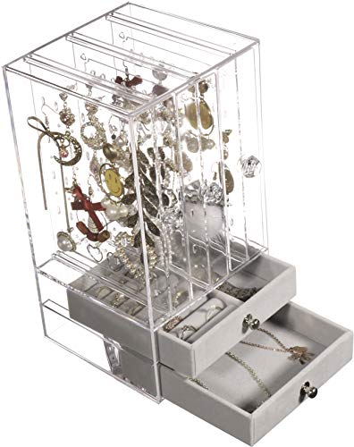 Acrylic Jewelry Box and Earring Holder Display Stand