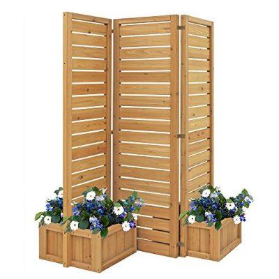 Fusion Planter Cedar Privacy Screen