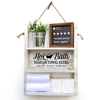 Agantree art Bathroom Decor Hanging Shelf - Toilet Paper Holder