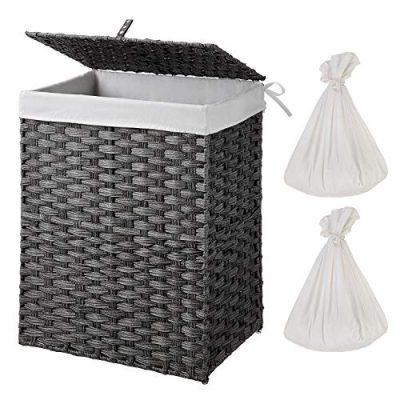 Laundry Hamper with 2 Removable Liner Bag