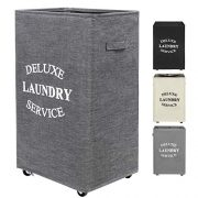 ZERO JET LAG 90L Large Laundry Hamper on Wheels