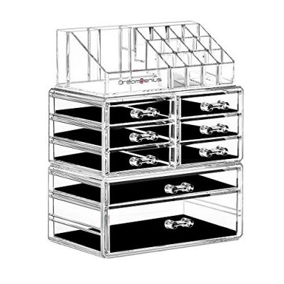 Makeup Organizer 3 Pieces Acrylic Cosmetic Storage Drawers