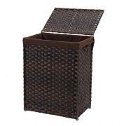 Foldable Synthetic Rattan Laundry Hamper