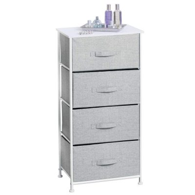 mDesign Vertical Dresser Storage Tower - Sturdy Steel Frame