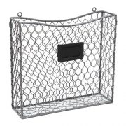 Wire Wall Mounted Magazine, File & Mail Holder Basket