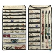 56 Pockets & 9 Hook and Loops for Holding Jewelry