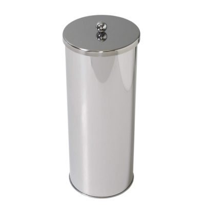 Zenna Home , Toilet Paper Canister, Chrome