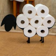 East World Sheep Toilet Paper Holder Free Standing and Wall Mount