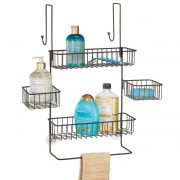 Storage Organizer Center with Built-in Towel Holders and Baskets