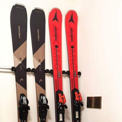 Aluminum Heavy Duty Ski and Snowboard Wall Mount Rack