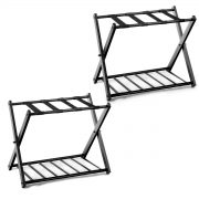 Safstar Folding Luggage Rack with Shoe Shelf