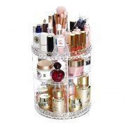 Makeup Organizer—360 Degree Rotating Transparent Cosmetic Organizer