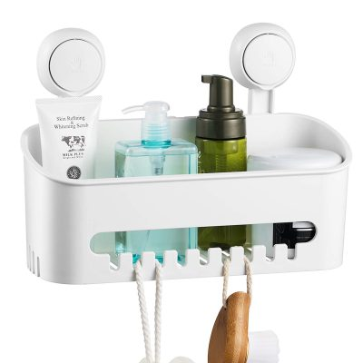 ilikable Vacuum Shower Caddy Suction Cup No-Drilling Removable