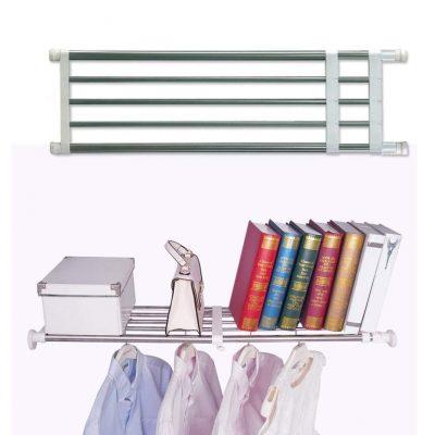 BAOYOUNI Closet Tension Shelf Rod Heavy Duty