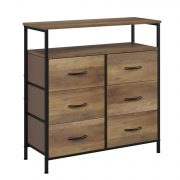 HOMECHO Fabric Dresser Chest with 6 Drawers