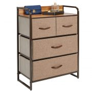 mDesign Dresser Storage Chest - Sturdy Metal Frame