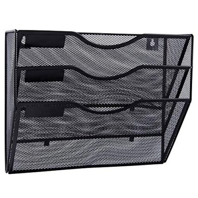 EASEPRES 3 Pockets Mesh Wall File Holder Organizer Office