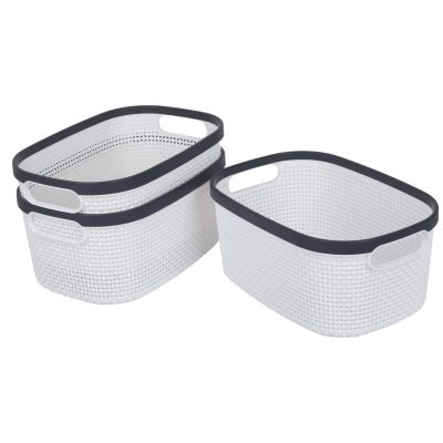 Storage Baskets with Handles Laundry Organizer Bins