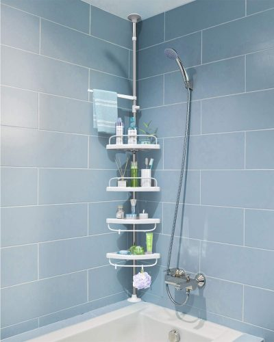 Constant Tension Stainless Steel Pole Organizer Shower Caddy