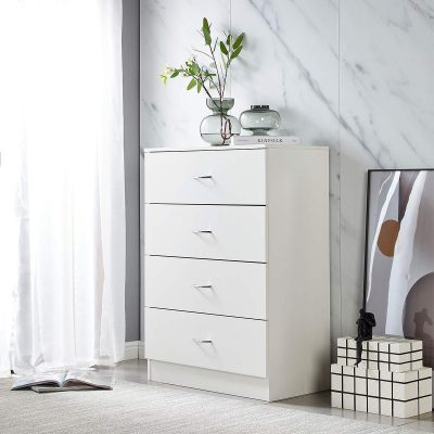 profurni Chest of Drawers Classic Tall Dresser 4 Drawer