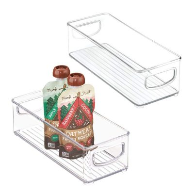 Food Storage Bin with Handles for Kitchen Pantry, Cabinet