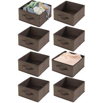 mDesign Soft Fabric Modular Closet Organizer Boxes