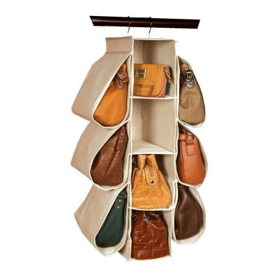 Hanging Purse Handbag Organizer 10 Pockets