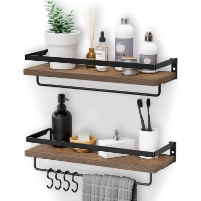 Bathroom Shelf with 2 Towel Holders Kitchen and Living Room