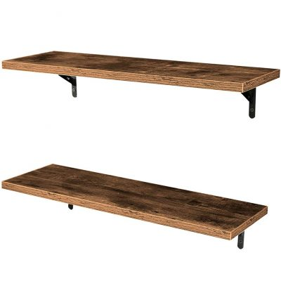 SUPERJARE Wall Mounted Floating Shelves, Set of 2