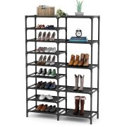 Tribesigns 9 Tiers Shoe Rack, Stackable Shoe Tower