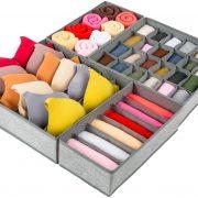 Criusia Drawer Organizer, 4 Set Foldable Underwear